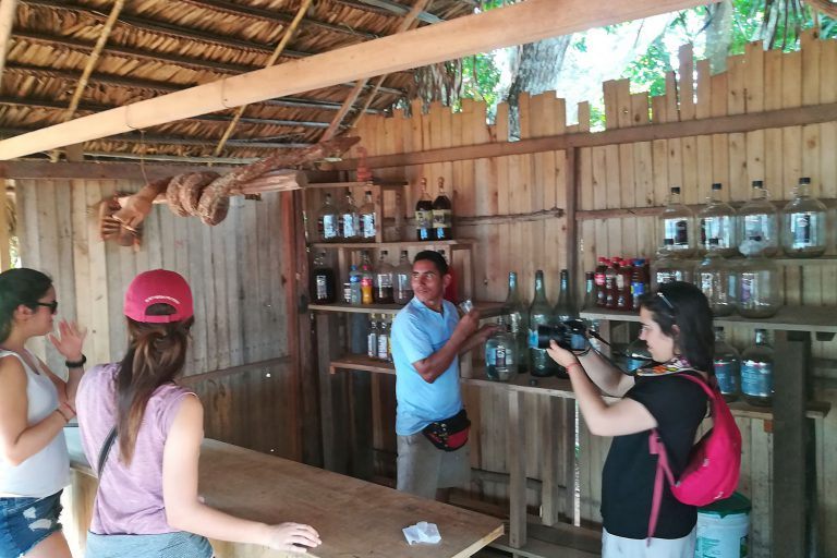 "Visit to the production artezanal of distilled liqueur from sugar cane ""Fundo Rubitsa"""